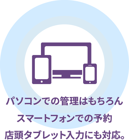 Webブラウザさえ備えていれば、どんな端末も利用可能。